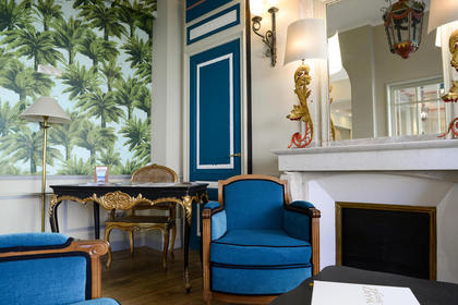The Lounge of the Hotel Villa-Lamartine - Charming 3 Stars hotel in Arcachon